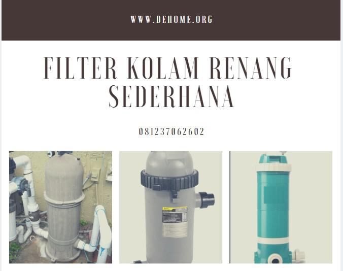 Filter Kolam Renang Sederhana Tipe Catirdge Filter