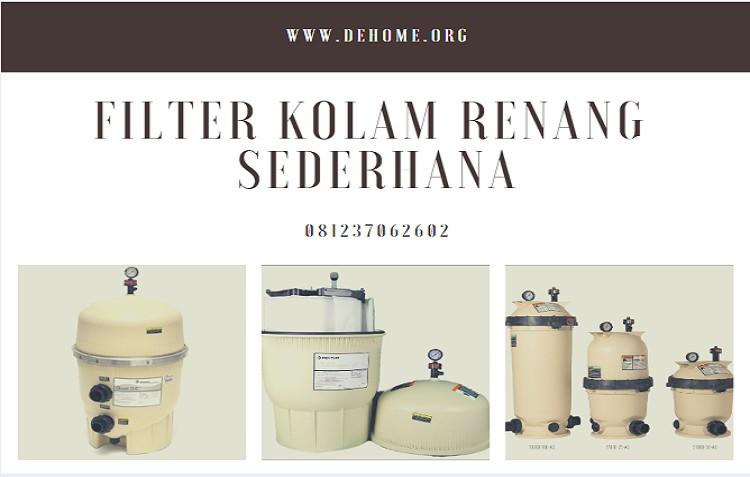 Filter Kolam Renang Sederhana Tipe DE Filter