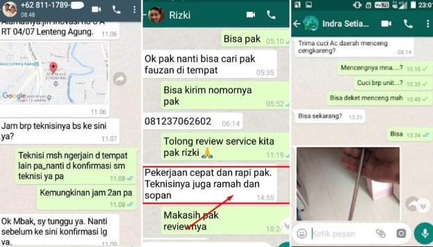 Service AC Bekasi Timur Testimoni