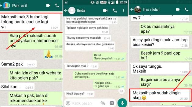 Service AC Bekasi Timur Testimoni Pelanggan