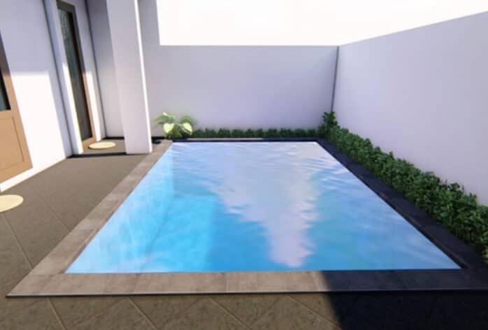 Desain 3D kolam renang Denpasar