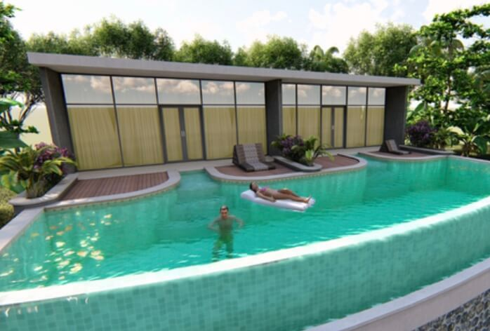 Jasa kolam renang 3D Bali